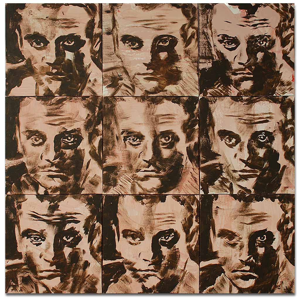Johnny O'Brady - UNDERSTUDY 6 (Cagney). acrylic on canvas panels, 36 x 36 in