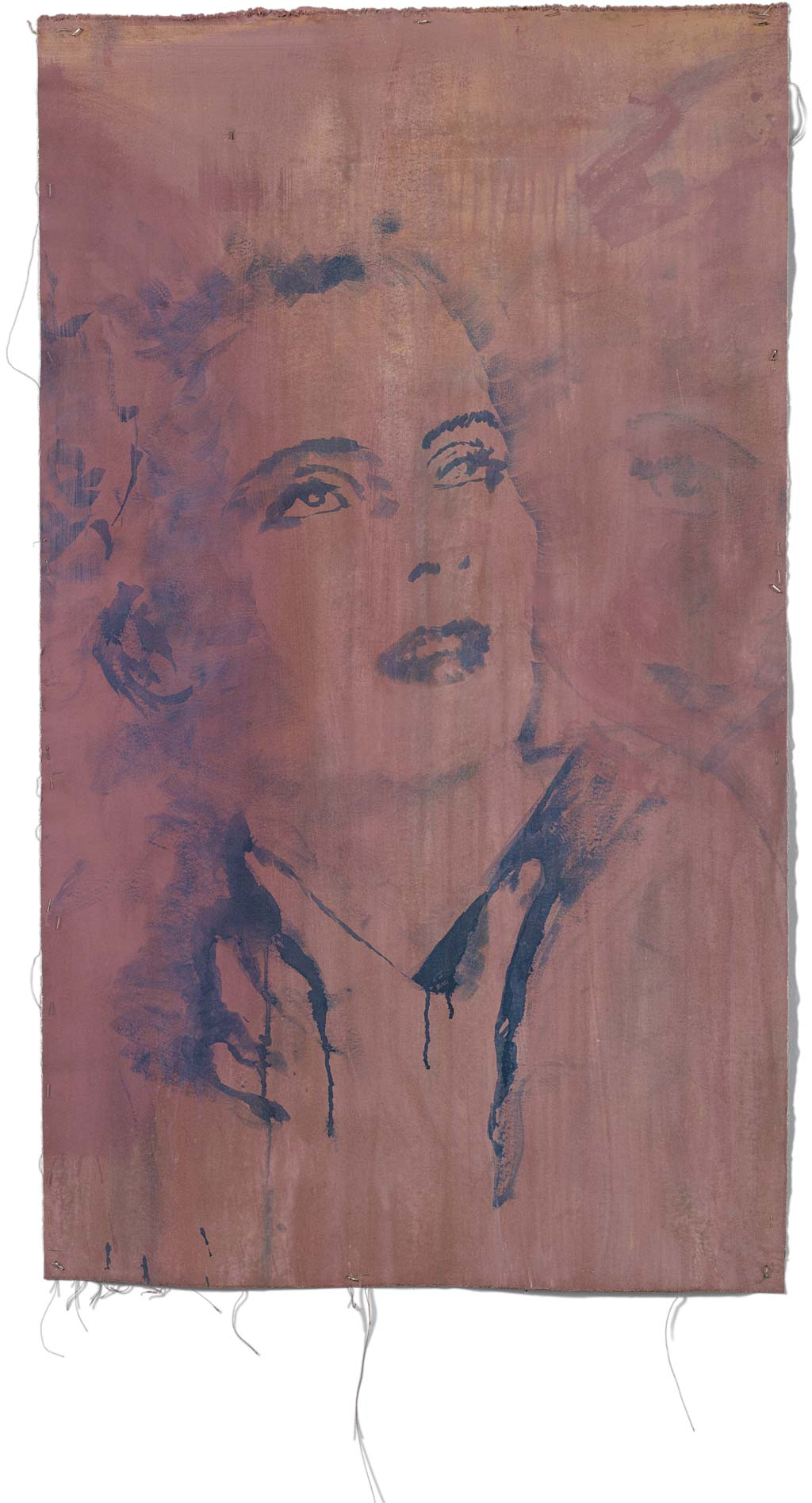 Johnny O'Brady - FRANCES FARMER. acrylic on canvas, 29 X 50 in