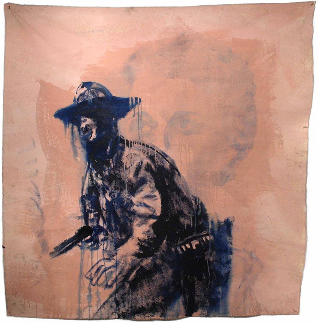 Johnny O'Brady - THE UNDEFEATED. acrylic on canvas, 60 x 58 in
