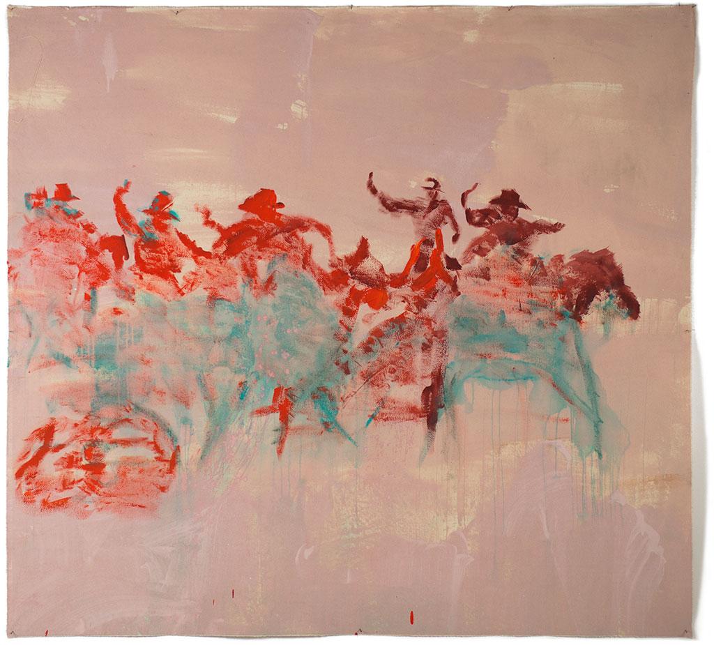 Johnny O'Brady - NEW FRONTIER. 2010. acrylic on canvas, 56 x 63″
