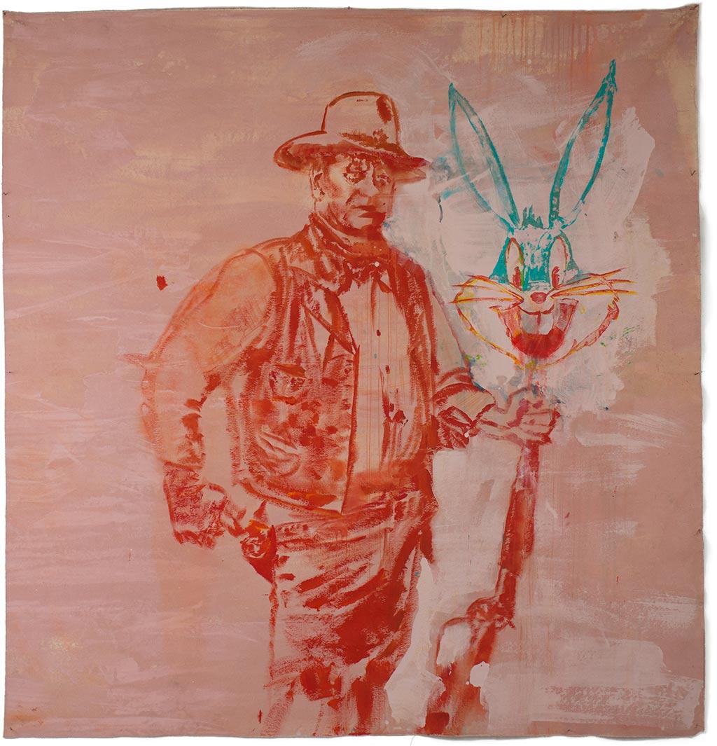 Johnny O'Brady - WHAT'S UP, DUKE? 61 x 58 in (155 x 147 cm)